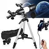 NOCOEX Telescopio Portátil para Niños, Adultos, Principiantes Actualizado, Apertura de...