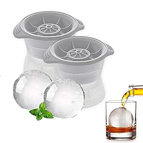 [2 stuks] Ronde ijsbalvorm met een diameter van 6 cm, ronde ijsblokjesvorm met deksel, herbruikbare siliconen…