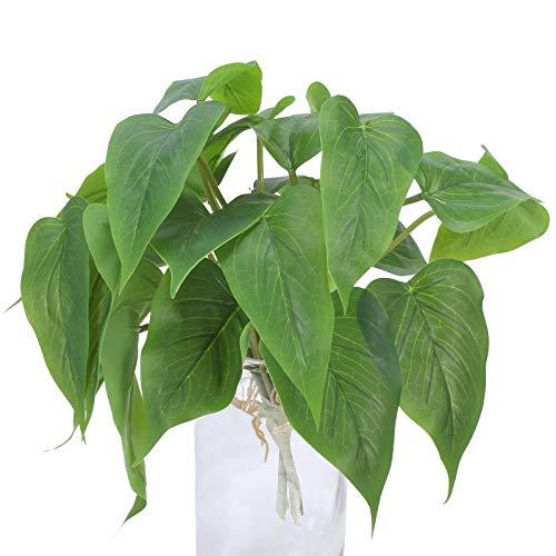 DWANCE 2pcs Plantas Artificiales Plantas Falsas Resistente a los Rayos UV Plantas Verdes Utilizado para la decoración de la Boda del Tiro de la terraza de la Oficina del jardín del hogar