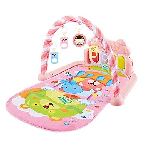secruk Alfombra de juego para bebés Gimnasio de actividades para bebés Alfombra de juego para bebés Patada y juego de piano Gimnasio Gimnasio para bebés Centro de actividades suave con gaudily