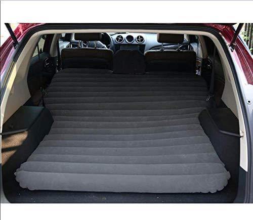 HEZHOUJI Suv Car Inflatable Mattress - Seat Travel Bed Air Mattress With Air Pump,Black