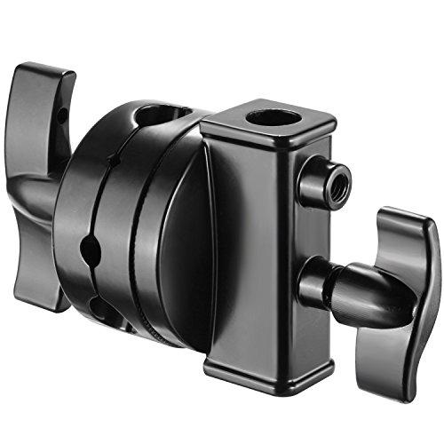 Neewer Multifunktion Schwer Pflicht 2,5 Zoll Griff Kopf schwenkkopf Adapter für Licht Ständer Verlängerung Boom Arm und andere fotografische Geräte Schwarz