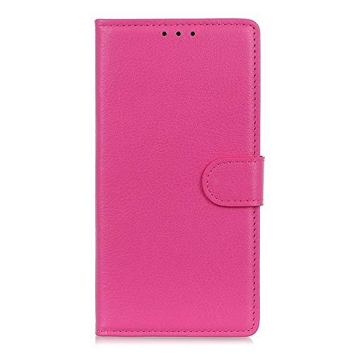 HAOREN Cover per Huawei Mate 40 PRO Plus Cover, [Flip Stand/Card Slot] Flip Case Custodia in Pelle PU Premium Antiurto con Supporto/Magnetico/Portafoglio, Rosa