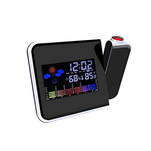 ffshop Relojes meteorológicos Creativa Calendario perpetuo Electrónico Tiempo del Reloj del Reloj en Pantalla de proyección de Reloj Reloj Local