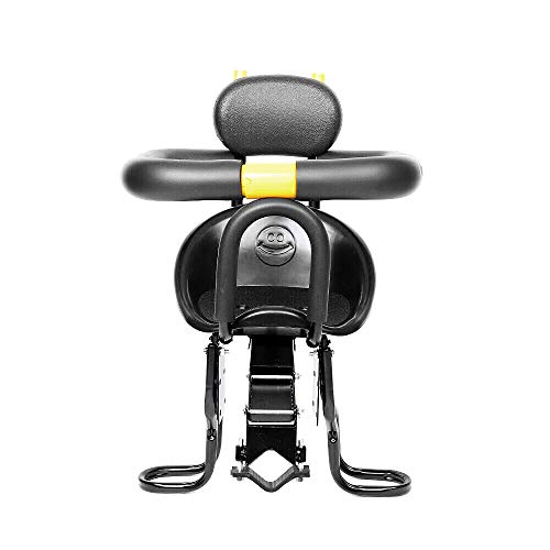 CNCEST Child Bike Seat with Foot Pedal, Front Mounted Child Bicycle Seat Portable Kids' Safety Bike Seat