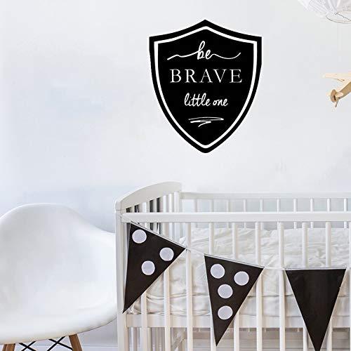 WERWN Etiqueta engomada de la Pared del Dormitorio, calcomanía inspiradora de Be Brave Little One, Pegatina de Vinilo para Pared, decoración del Dormitorio del bebé, decoración del hogar, 57 * 68 cm