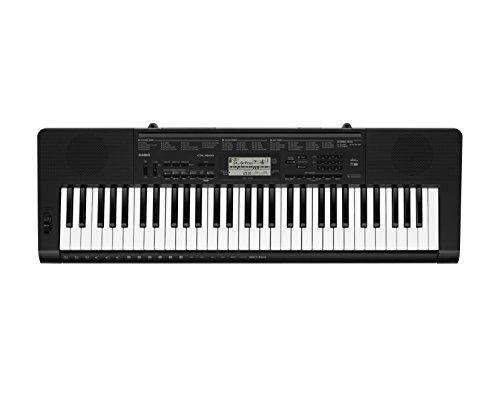 Casio CTK-3500 - Teclado digital, 61 teclas sensibles, estilo piano, Negro
