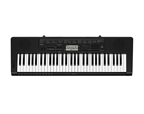 Casio CTK-3500 - Tastiera digitale arranger polifonica 61 tasti stile pianoforte a 48 note, Nero