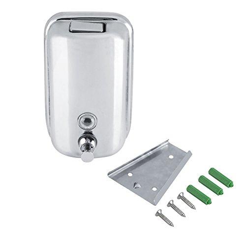 Distributore di sapone lozione da parete in acciaio inossidabile manuale liquido doccia lozione dispenser shampoo scatola pompa con pulsante per bagno cucina (800 ml)