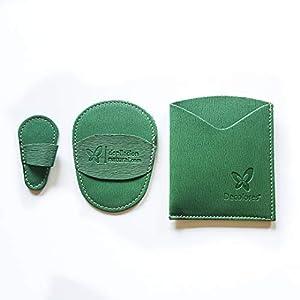 Guante depilatorio corporal + guante facial natural de color verde. Guantes para eliminar el vello y las células muertas dejando tu piel totalmente suave y perfecta.