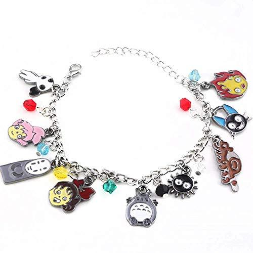 Detazhi Japan Anime Kiki's Delivery Service Bracelets Spirited Away My Neighbor Totoro Charm Bangle Women Girls Jewelry