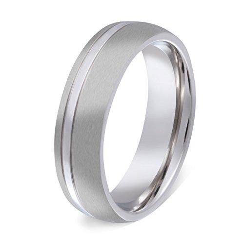 1 Ring aus hochwertigem Edelstahl mit gratis Gravur-58 (18,4)