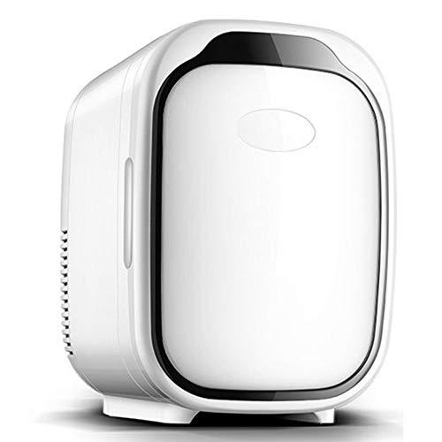 Tragbarer 6L Minikühlschrank Für Schlafzimmer Tischplatte Kühlschrank Elektrischer Kühlbox-Kühlerwärmer Kompakt, Tragbar Und Leise AC + DC-Stromkompatibilität,Schwarz