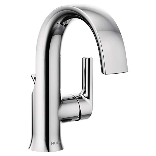 Moen S6910 Doux Collection One-Handle High Arc Laminar Stream Bathroom Faucet, Chrome