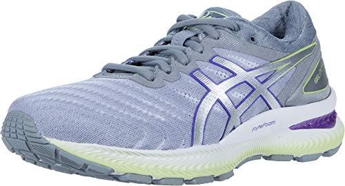 ASICS Women's Gel-Nimbus 22 Running Shoes, 8, White/Pure Silver