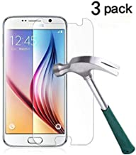 TANTEK [3-Pack] Screen Protector for Samsung Galaxy S6,Tempered Glass Film,Ultra Clear,Anti Scratch,Bubble Free,Case Friendly