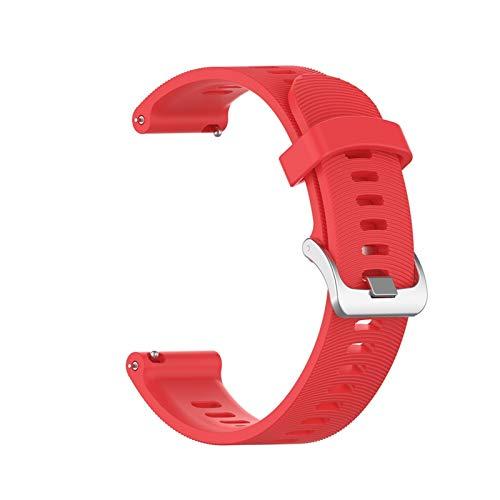 XXY Banda de Pulsera de 20 mm para Garmin Forerunner 245 645 245M Vivoactivo 3 Smart Watch Sport Silicone Muñeca Strap Accesorios (Color : Red, Size : 20mm Width)