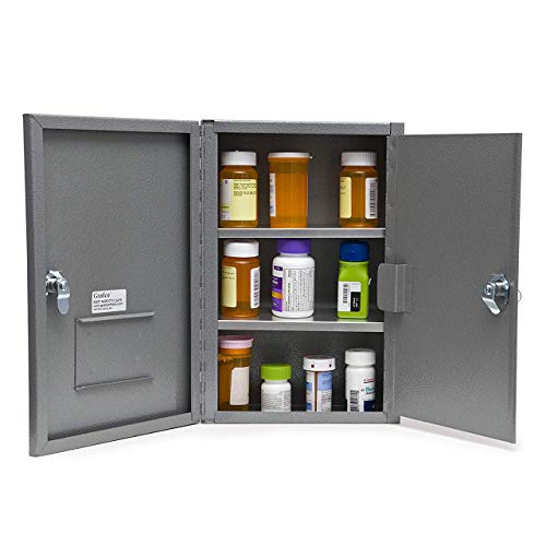 Grafco Locking Narcotic Safe with Double Door, Large Size, 22 lb. Capacity, 3008