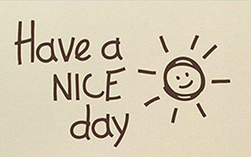 素敵な毎日を Have a nice day ウォールステッカー (コーヒーブラウン)