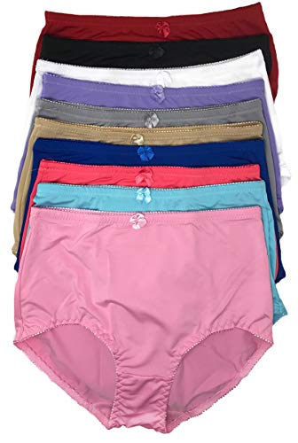 Peachy Panty Women's Pack of 6 High-Rise Girdle Panties High-Waist Tummy Control Girdle Panties (XXXX-Large)