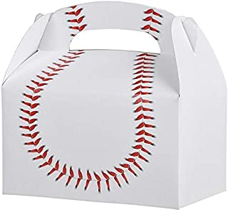 Baseball Treat Box Birthday Party Favor Boxes, 12 Pack