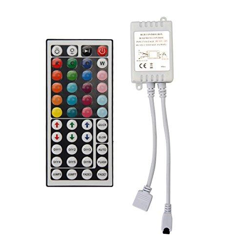 SUEPRNIGHT LED Strip Lights Remote Controller, DC 24V RGB Dimmer Control Brightness Mode Speed Color for 32.8FT 24V LED Strip Tape