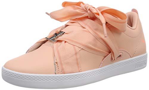 Puma Damen Smash WNS Buckle Sneaker, Pink (Peach Bud-Bright Peach-Puma White), 39 EU