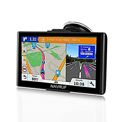 GPS Navigation for Car, 2020 Map 7 inch Touch Screen Car GPS 256-8GB, Voice Turn Direction Guidance, Support Speed and Red Light Warning, Pre-Installed North America Lifetime map Free Update