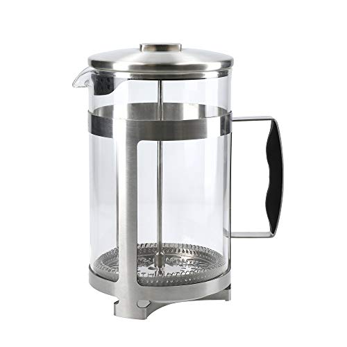 La Cafetière Trieste French Press Coffee Maker, Stainless Steel / Glass, 12 Cup (1.5 Litre)