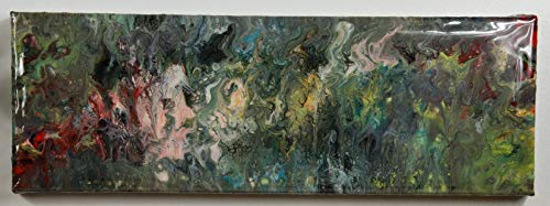 abstraktes Unikat | Acrylbild Epoxidharz resin beschichtet