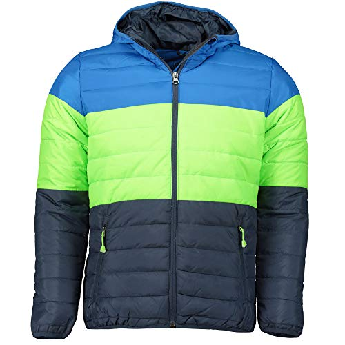 McKINLEY Ricon Jungen Thermojacke Winterjacke Blue royal/Green Lime, Größe:164
