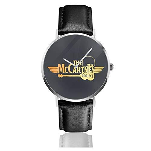 Paul Mccartney ポール・マッカートニー メンズ レディース クォーツ 革ベルト Hd画面 生活防水 ベルドウォッチ 防振 耐久 普段使い 高級感 クオーツ腕時計メンズ レディース 誕生日プレゼント うでどけい