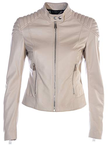 Belstaff Mollison Ladies Leather Jacket in Pale Oak