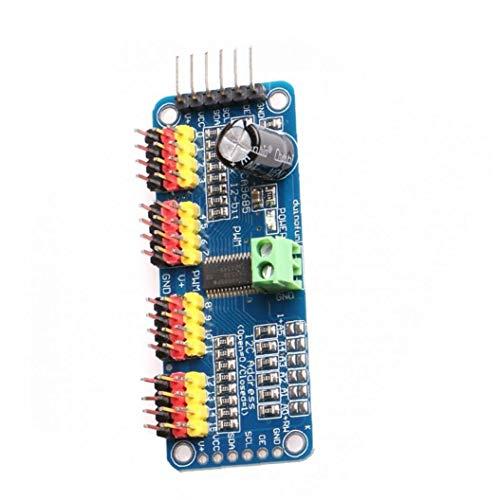 Homiki PWM-Servomotor-Treiber 16 Kanal 12 Bit IIC I2C-Schnittstelle PCA9685 Modul kompatibel mit Arduino Roboter Industrieverbrauchsgut