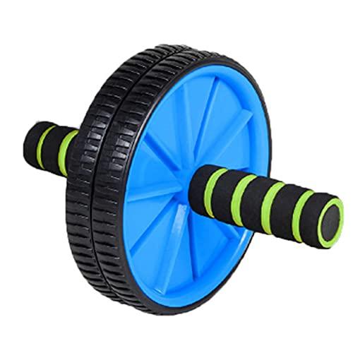 AB Roller Wheel, Rueda Abdominales Fitness AB Roller Rodillo Rueda con Rodilleras para Entrenamiento Abdominal De Fuerza Central Ligero Y Portátil Muy Adecuado para Ejercicios De Fitness,Azul