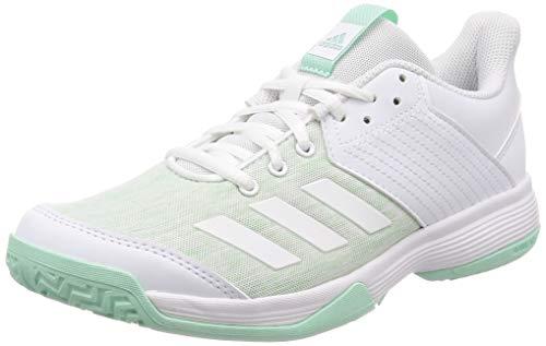 adidas Ligra 6, Zapatos de Voleibol para Mujer,Blanco (Ftwr White/Clear Mint),44 EU