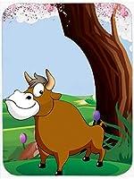 Caroline's Treasures APH7628MP Bull Under The Tree Mouse Pad, Hot Pad or Trivet, Large, Multicolor [並行輸入品]