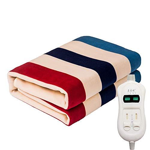 Langyinh Gestreepte elektrische verwarming, ultra zacht verwarmen deken, met veilige en warme laagspanningstechnologie, voor bank of bed, volledige afmetingen 70,8 x 59 inch