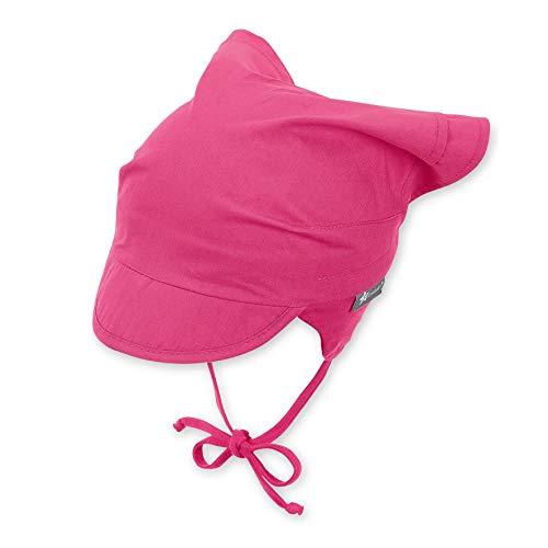 Sterntaler Baby-Mädchen Headscarf Mütze, Magenta, 45