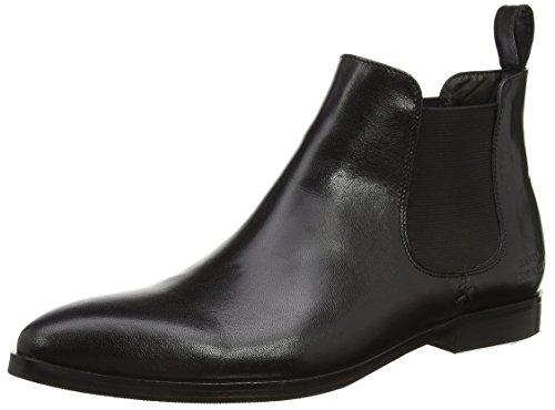 Melvin & Hamilton Damen Jessy 1 Chelsea Boots, Schwarz (Salerno Black/Ela.Black/HRS), 38 EU