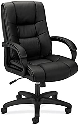 Amazon Com Hon Executive Desk Chair High Back Upholstered Office Chair For Computer Black Hvl131 Furniture Decor