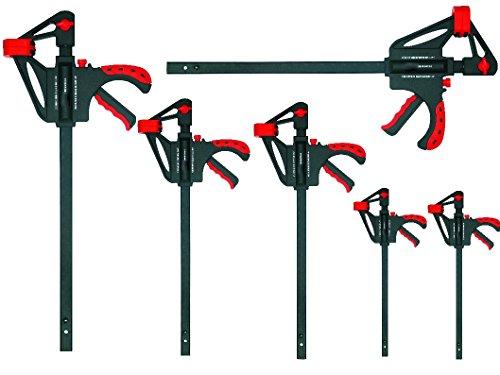 Proteco-Werkzeug® Set 6 Teile Schnellspannzwingen 300/450 / 600 mm x 93 mm Einspanntiefe Einhandzwingen Spreizzwingen Spannzwingen Schraubzwingen