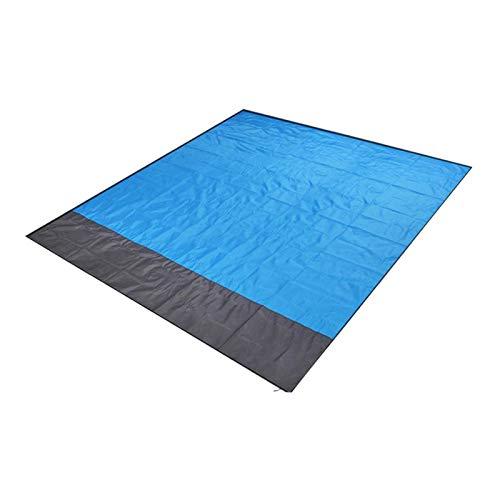 HUI JIN Manta de playa para pícnic, sin arena, impermeable, 79 x 83 pulgadas, plegable