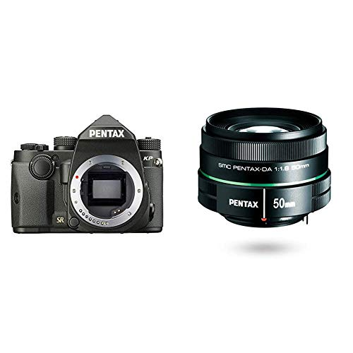 Best Bargain Pentax KP 24.32 Ultra-Compact Weatherproof DSLR with 3″ LCD, Black w/Pentax DA 50mm f1.8 Lens for Pentax DSLR Cameras