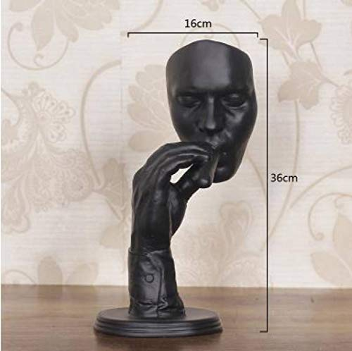 DOGOGO Retro Meditators Abstracte beeldhouwkunst beeldjes rokende man standbeeld creatieve hars beeldje kunstwerk huisdecoratie