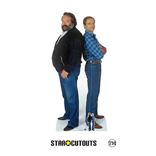 Star Cutouts CS797 Bud Spencer (Carlo Pedersoli) Terence Hill (Mario Girotti) Doppel-Pappaufsteller für Fans, Partys und Events, mehrfarbig