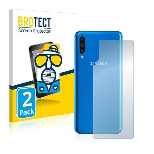 BROTECT Protector Pantalla Anti-Reflejos Compatible con Samsung Galaxy A50 (Trasero) (2 Unidades) Pelicula Mate Anti-Huellas
