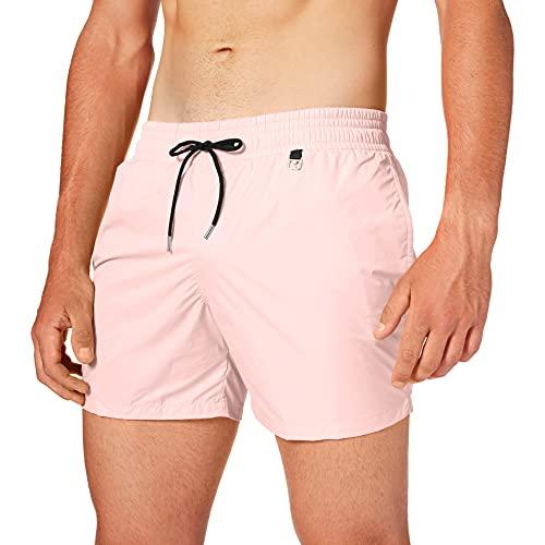 HOM Herren Sunlight Beach Boxer Shorts, Pink (Rose Pâle 1128), Small
