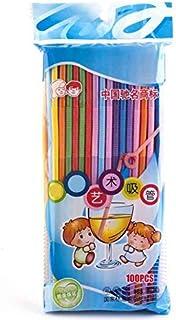 100 bendy straws