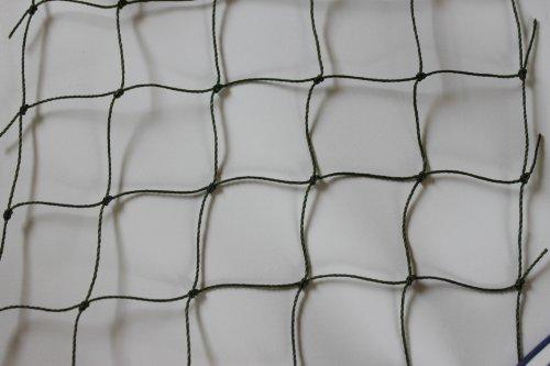 Katzennetz Katzenschutznetz Balkonnetz - oliv - Masche 5 cm - Stärke: 1,2 mm - Breite: 4,00 m Meterware